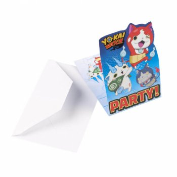 8 Invitations Yo Kai Watch
