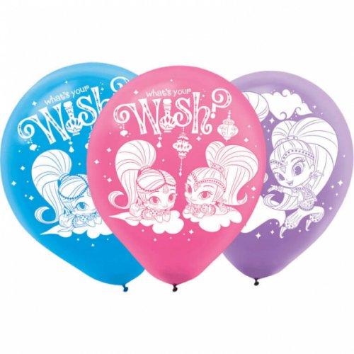 6 Ballons Shimmer et Shine