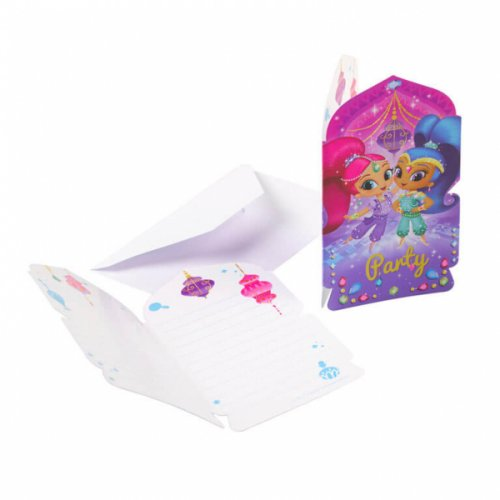 8 Invitations Shimmer et Shine