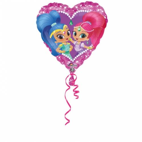 Ballon Mylar Coeur Shimmer et Shine