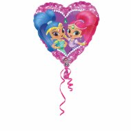 Ballon Hélium Coeur Shimmer et Shine