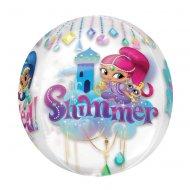 Ballon Orbz Crystal à plat Shimmer et Shine