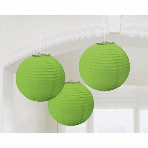 3 Lanternes Boules japonaises Vert