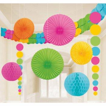 Set 9 Décorations et guirlande Multicolore