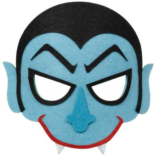Demi Masque Vampire Bleu - Feutrine