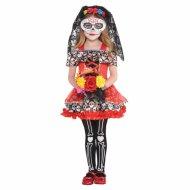 Déguisement Mini Señorita Calavera Taille 4-6 ans