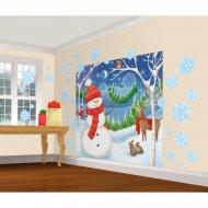 30 Déco Murales + Affiche Bonhomme de Neige