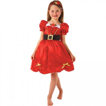 Déguisement Miss Noël 3-5 ans