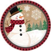 8 Assiettes Merveilleux Noël