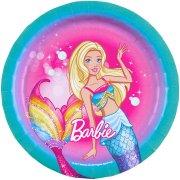 8 Petites Assiettes Barbie Licorne