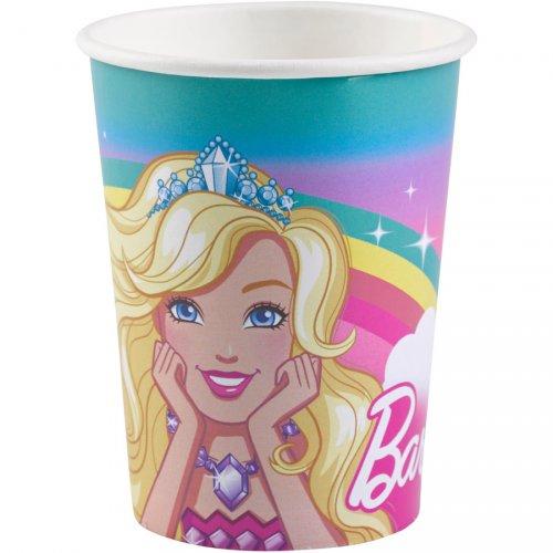 8 Gobelets Barbie Licorne
