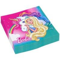 Contient : 1 x 20 Serviettes Barbie Licorne