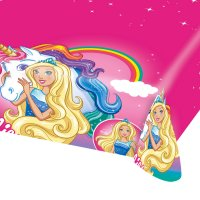 Contient : 1 x Nappe Barbie Licorne