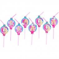 8 Pailles Barbie Licorne