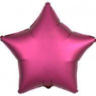 Ballon Etoile Satin Rose Grenade (48 cm)