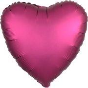 Ballon Coeur Satin Rose Grenade (43 cm)
