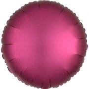 Ballon Disque Satin Rose grenade (43 cm)