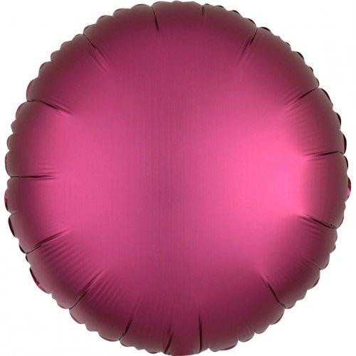 Ballon Disque Satin Rose grenade (43 cm)