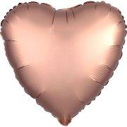Ballon Coeur Satin Rose Gold (43 cm)