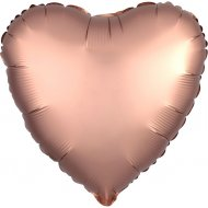 Ballon Coeur Satin Rose Gold (43 cm)