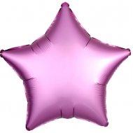 Ballon Etoile Satin Rose Flamingo (48 cm)