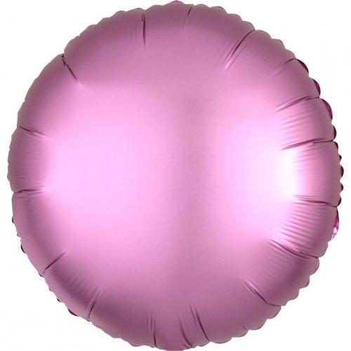 Ballon Disque Satin Rose Flamingo (43 cm)