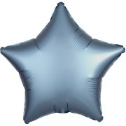 Ballon Etoile Satin Bleu Perle (48 cm)