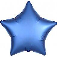Ballon Etoile Satin Bleu Azur (48 cm)