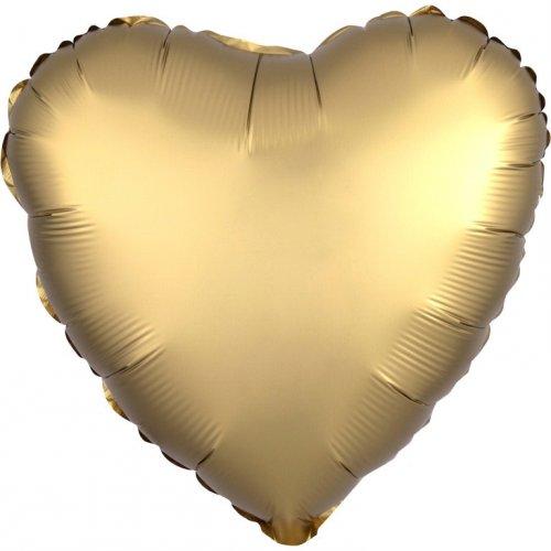 Ballon Coeur Satin Or (43 cm)