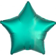 Ballon Etoile Satin Vert Jade (48 cm)