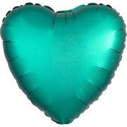 Ballon Coeur Satin Vert Jade (43 cm)