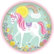 8 Assiettes Licorne Magique