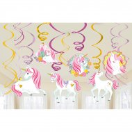 12 Guirlandes Spirales Licorne Magique