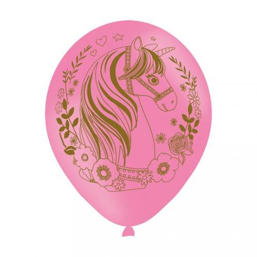 6 Ballons Licorne Magique