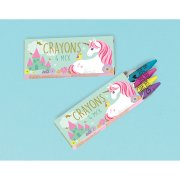 12 Mini Boîtes de Crayons Licorne Magique