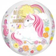 Ballon Orbz à plat Licorne Magique