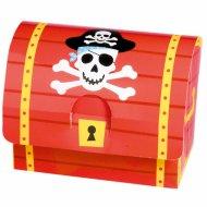 8  Boîtes Cadeaux Coffre Pirate (10 cm)