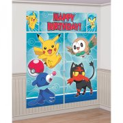 Scène Déco murale Pokémon Happy Birthday (1,80 m)