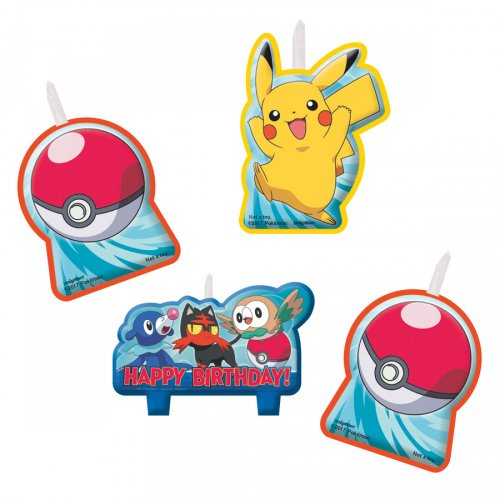 4 Petites Bougies Pokémon
