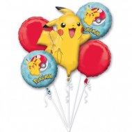 Bouquet de 5 Ballons Pokémon (44 cm et 115 cm)