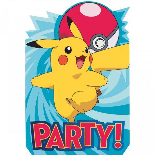 8 Invitations Pokémon