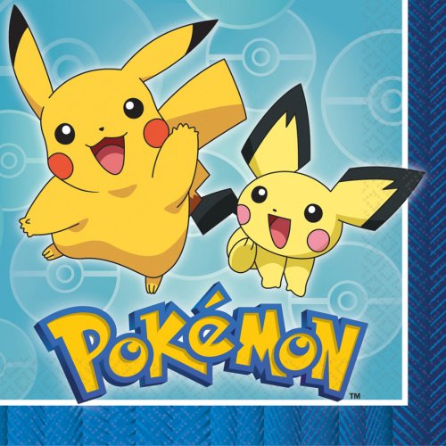 16 Serviettes Pokémon