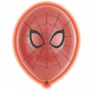 5 Ballons Lumineux Spiderman (LED 24h)