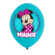6 Ballons Minnie Turquoise