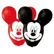 4 Maxi Ballons Mickey à Oreilles Rouge/Noir (56 cm)