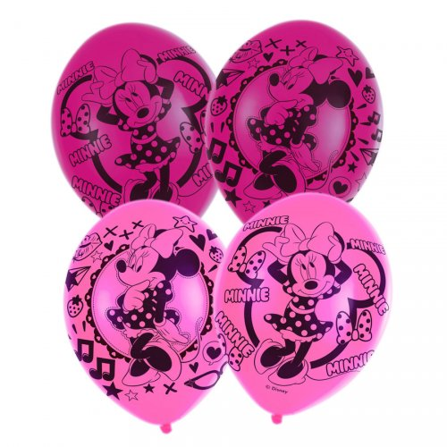 6 Ballons Minnie Rose