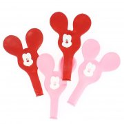 4 Maxi Ballons Minnie à Oreilles Rose (56 cm)