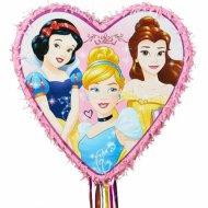 Pull Pinata 6 Princesses Disney Coeur (46 cm)