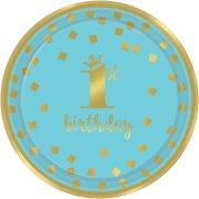 8 Petites Assiettes Royal Birthday 1 - Bleu