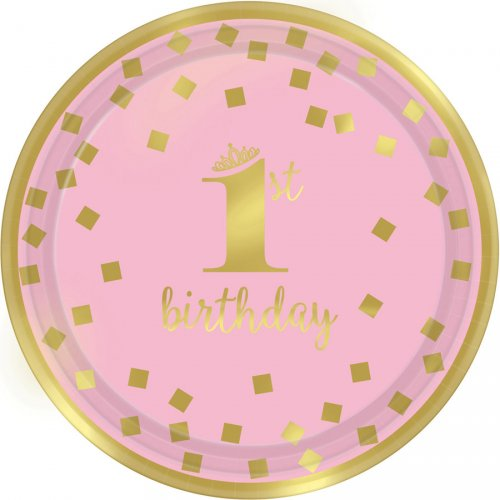 8 Petites Assiettes Royal Birthday 1 - Rose